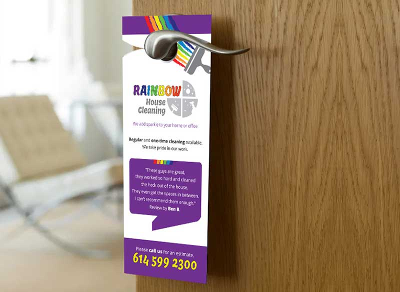 Rainbow House Cleaning Door Hanger